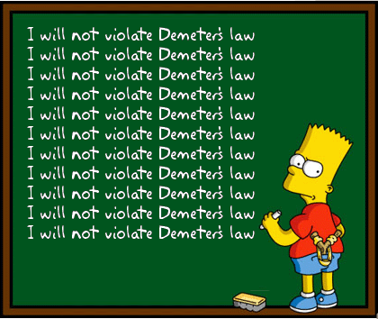 I will not violate Demeter's Law!